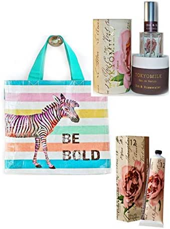 TokyoMilk Gin & Rosewater Perfume Eau de Parfum 1.0 fl oz and Handcreme with Zebra Be Bold Striped. Free Sample included with your purchase