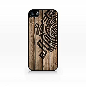 Wooden pattern, color block, wood print - Flat Back, iPhone 5 case, iPhone 5s case, Hard Plastic Black case