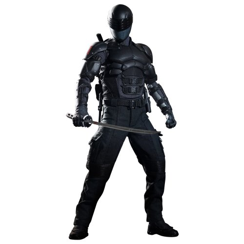Gi Joe Black Ninja Costume (Hot Toys GI Joe Retaliation 1/6 scale figure Snake Eyes)
