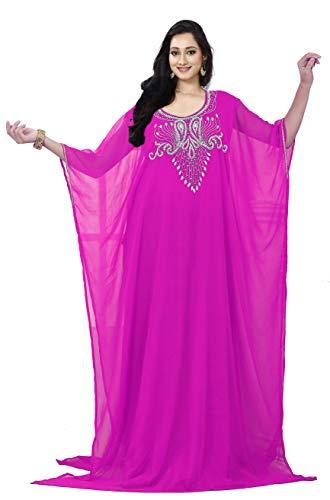 KoC Women's Kaftan Maxi Dress Farasha Caftan KFTN131-Pink ()