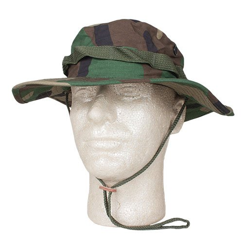 Fox Outdoor Products Boonie Hat, Woodland Camo Ripstop, Size 7 1/4 (Woodland Camo Ripstop)
