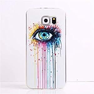 Samsung S6 funda , Samsung Galaxy S6 funda , Lifetrut® [ ojo ] [AIR CUSHION] [Cápsula] TPU Soft ** Delgado Caso NUEVO ** Flexible de moda de alta calidad del encanto del color del estilo de TPU funda para Samsung Galaxy S6