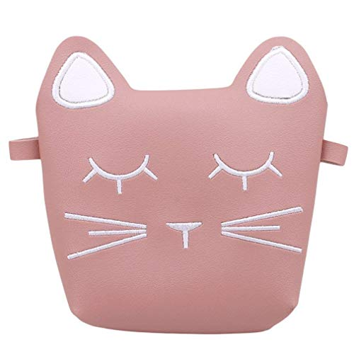 Carino Cat Crossbody Bag per bambini ragazze Pu Sacchetto di monete in pelle con Cat Ear Borse Messenger Bag Cross Body Bags (Rosa) (Colore : Marrone chiaro, Dimensione : -) Rosa