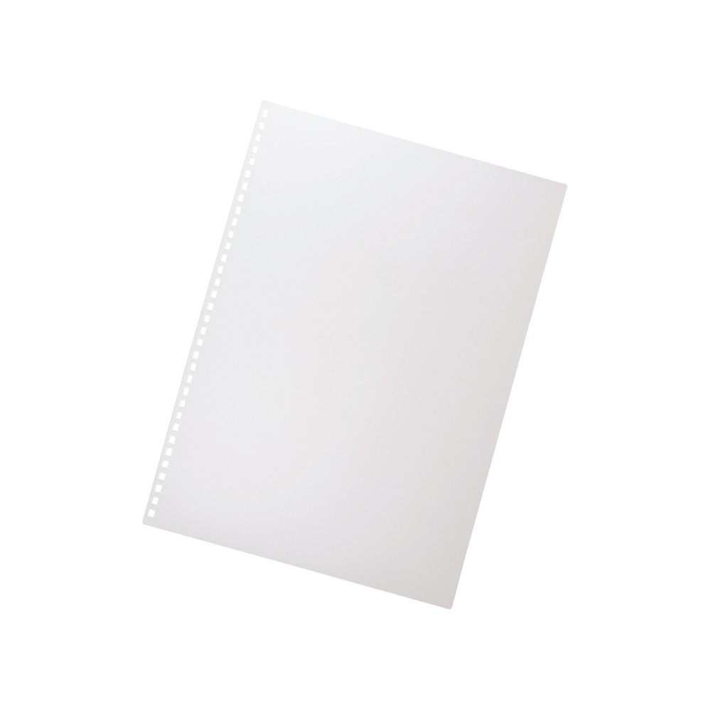 Lihit Lab. Ring Note Bookbinding Front Page Looseleaf A4S 34 holes 8 sheets Milky White N1835-1