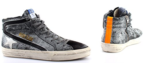 GOLDEN GOOSE Zapatos Hombres Sneakers Slide Savage Black Suede Made Italy New