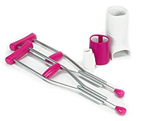 Doll Crutches, Cast and Accessory Set for 18 Inch Dolls, Doll Casts, Crutches and Bandage by Sophia's