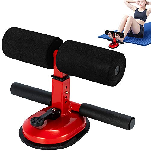 Durotan Sit Up Bar,Upgraded Design Suction Sit-up Floor Bar with Comfortable Padded Ankleand Support Rode and 4 Gear Positions for Home Work or Travel