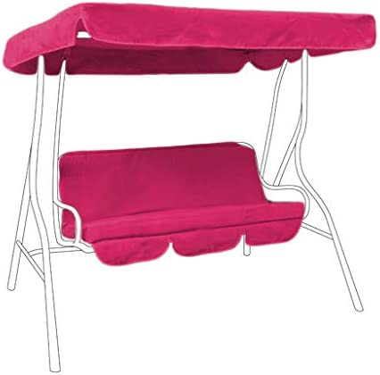 Cerise Pink Water Resistant Bench Cushion for Swing Hammock Garden Seat Pad