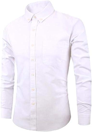 Fseason-Men Hipster No-Iron Single Breasted Long Sleeve Woven Shirt