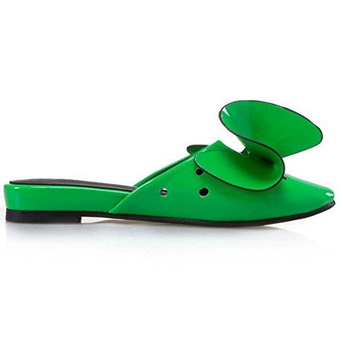 TAOFFEN Basso Ciabatta Green Scarpe Tacco Donna rgwqg0