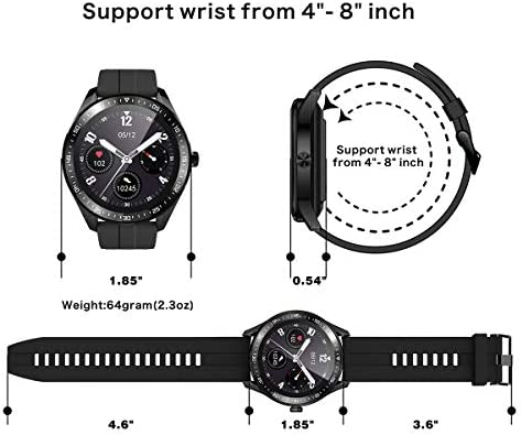 Smart Watch Fitness Tracker for Android iOS Phones,Body Temperature Smartwatch with Heart Rate Sleep Blood Pressure Blood Oxygen Monitor,Smart Watch for Men Women Compatible iPhone Android Samsung. 6