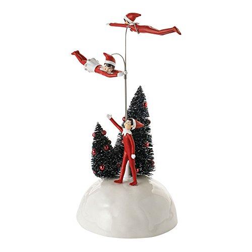 Village Elf (Department 56 Village Elf on the Shelf Flying Elves Animated, 7.87 inch)