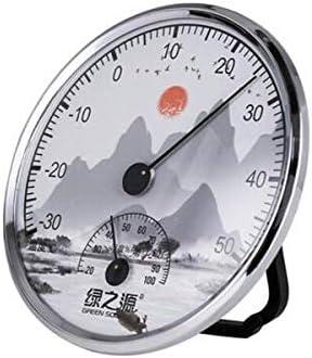 QIANZICAI キッチン温度計、温度計、湿度計のポインタ、屋内ドライとウェット温度計、デスクトップ垂直温度計、装飾飾り工芸