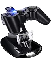 PS3 Controller Charger, Dual USB Playstation 3 Controller Charging Dock Station Stand with LED Indicators