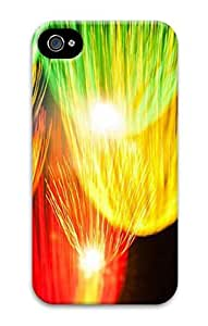 3D PC Back Case Cover for iPhone 4 Hard Shell Skin for iPhone 4 with Color Light