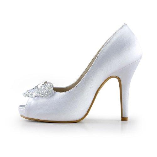 Jia Jia Wedding 085561 chaussures de mariée mariage Escarpins pour femme blanc, EU 40