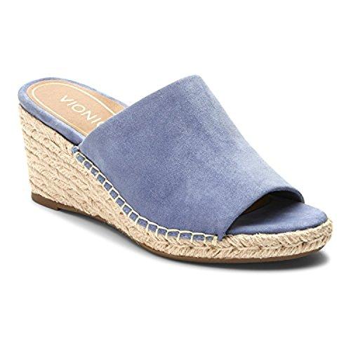 Kadyn Womens Wedge Blue Sandal Vionic 5zdpq5