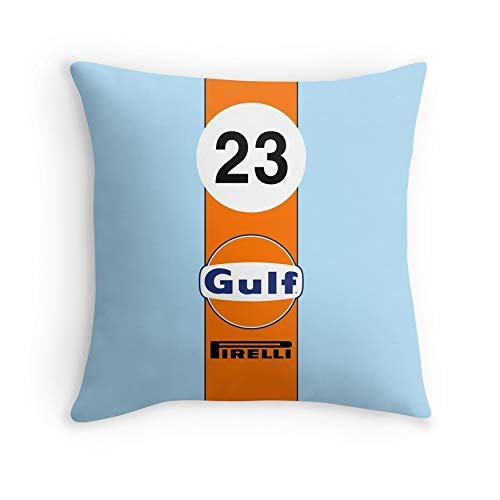 Square 24x24 HOJJP Taie doreiller Gulf Oil Racing Colours for Sofa Couch Living Room Bed Decorative