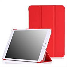 MoKo Samsung Galaxy Tab S2 / S2 Nook 8.0 Case - Ultra Slim Lightweight Smart-shell Stand Cover Case With Auto Wake / Sleep for Samsung Galaxy Tab S2 / S2 Nook 8.0 inch Tablet, RED