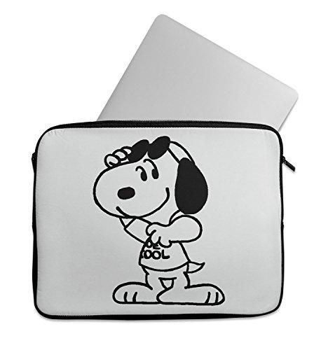Snoopy Joe Cool Black Laptop Sleeve Laptop Case Neoprene 11 inch 13 inch 15 inch Macbook Mac Dell Samsung (Morgan Black Bag)