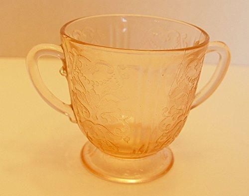 Vintage Estate Find Pink Depression Glass Open Sugar Bowl Motif ()