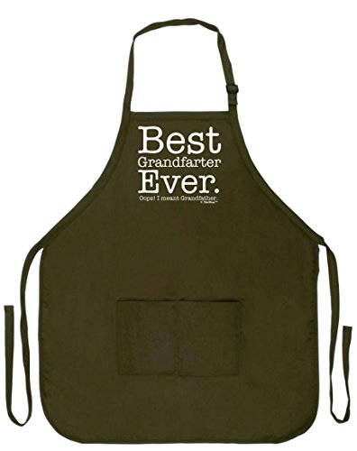 Funny Aprons for Grandpa Best Grandfarter Ever Oops Meant Grandfather Funny Grilling Apron Two Pocket Man Apron Military Olive - Womens Oops Golf