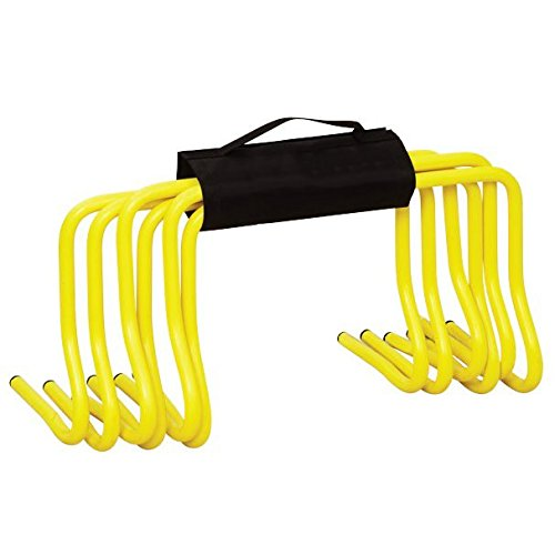 "Speedster 12"" Mini Hurdles, 6pk with Strap Speed & Agility Training"