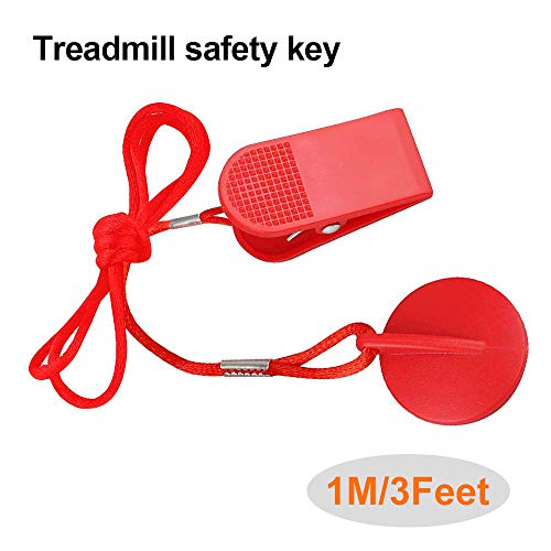 Treadmill Universal Magnet Safety Key for All NordicTrack, Proform, Image, Weslo, Reebok, Epic, Golds Gym, Freemotion, and Healthrider Treadmills (Red) (Treadmill Freemotion)