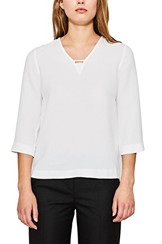 Femme ESPRIT White Blanc Off Collection 117eo1f004 110 Blouse vqnOrztq