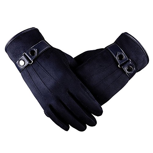 2018 Lastest,WUAI Clearance Men's Motorbiker Cycling Warm Ski Snow Snowboard Fashion Winter Leather Gloves(Navy ,Free Size)