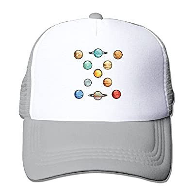 Planets Baseball Cap Adjustable Snapback Custom Mesh Trucker Hat from Swesa