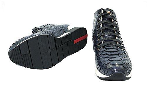Nbwe Gentlemans Stivali Personalizzati Su Misura Di Alta Qualità, Sneakers In Vera Pelle Di Alta Qualità In Pizzo Scarpe Casual Artigianali Blu