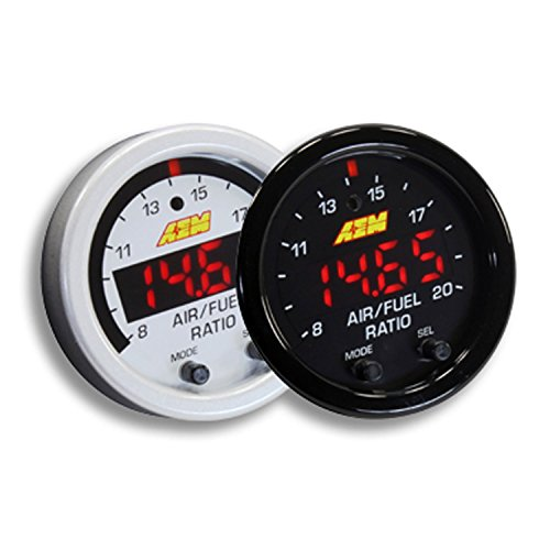 AEM 52mm Wideband UEGO Air Fuel Ratio Sensor Controller Gauge w/ White Face Kit