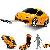 Ridaz Lamborghini Huracan Carry-on Hand Luggage for kids, (Officially Licensed by Lamborghini) Orange Lamborghini