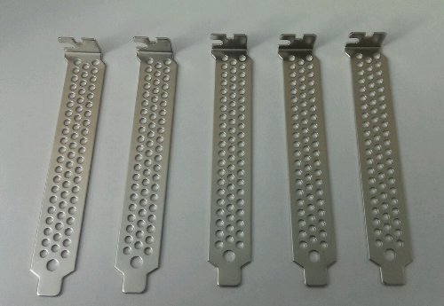 5 x Vented Computer Case PCI Card Slot Covers / Brackets