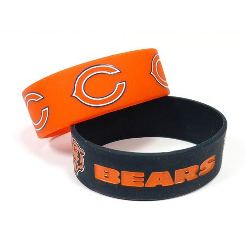 Chicago Bears Rubber Bracelet - Aminco International NFL-BC-207-16 Silicone Rubber Bracelet - Chicago Bears