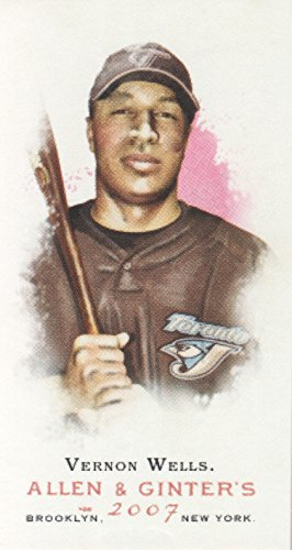 Toronto Blue Jays Vernon Wells - 2007 Topps Allen and Ginter Baseball Mini #329 Vernon Wells Toronto Blue Jays
