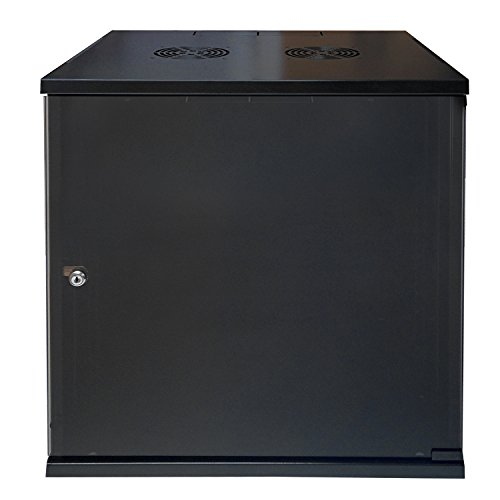 12U E-Pro Series Wall Mount Cabinet Rack Enclosure - Color: Black by Electriduct
