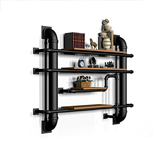 (Shelves ZR- LOFT Industry Background Decoration Frame Retro Partition Shelf Water Pipe Shelf Bookshelf Bag Rack)