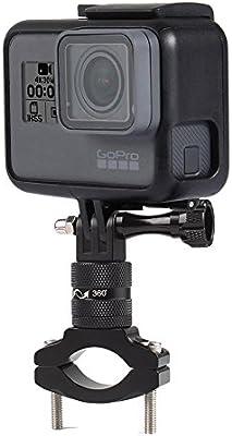 rungao abrazadera de soporte de bicicleta para GoPro soporte de manillar de bicicleta para GoPro Hero 6 5/4/3/2/1 Cámaras: Amazon.es: Deportes y aire libre