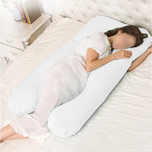 Nova Microdermabrasion Full Body Pregnancy Pillows U Shaped Maternity Pillow Back Support Pillow with Cotton Cover Zipper Removable & Washable