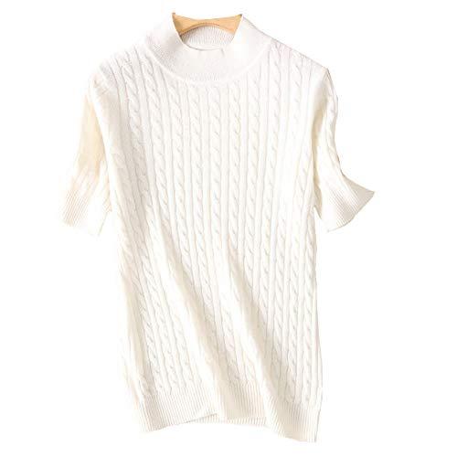 Lunga Maglione Donna Manica Dissa Bianco qRdEwO