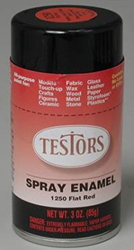 Amazon Com Flat Red Spray Testors Enamel Plastic Model Paint Toys