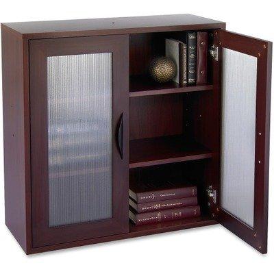Safco Products 9442MH Apres Modular Storage Cabinet, 2 Door, Mahogany - Executive 2 Door Cabinet