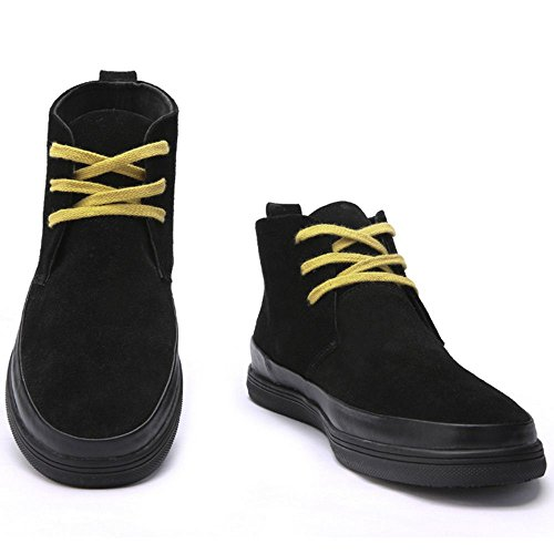 TAOFFEN Men's Boots Fashion Black Casual Shoes p0wPqpF