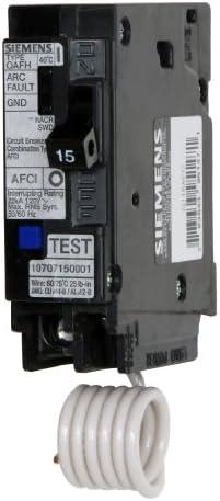 Siemens Q115AFC 15-Amp 1 Pole 120-Volt Combination Type Arc Fault Circuit Interrupter