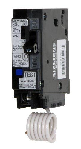 Siemens Q115AFC 15-Amp 1 Pole 120-Volt Combination Type Arc Fault Circuit - Circuit Interrupters Arc Fault