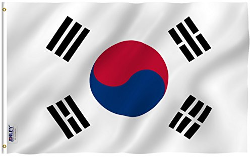 ANLEY [Fly Breeze] 3x5 Foot South Korea Flag - Vivid Color and UV Fade Resistant - Canvas Header and Double Stitched - S Korean National Flags Polyester with Brass Grommets