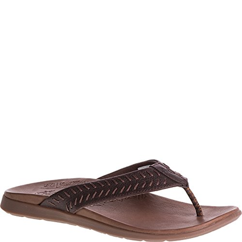 Flip Flops Leather Chaco (Chaco Men's Jackson Flip-Flop, Java, 13 Medium US)