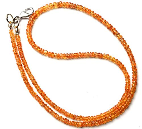 (GemAbyss Beads Gemstone 1 Strand Natural Songea Sapphire 3 to 3.5MM Facet Rondelle Beads 16 Inch Long Long Code-MVG-11334)